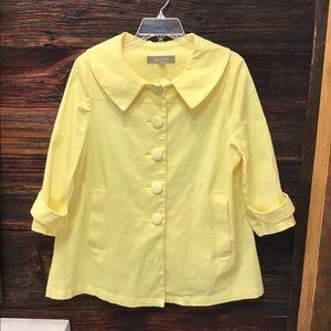 Croft & Barrow Stretch Jacket Yellow Blazer Med